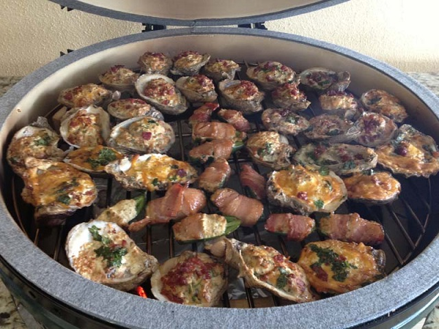 Oysters Rockefeller Big Green Egg Tampa Bay Packers Club