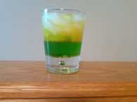 Green and Gold Cocktail