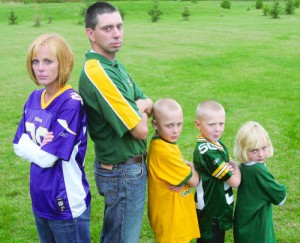 Packers Vikings Family